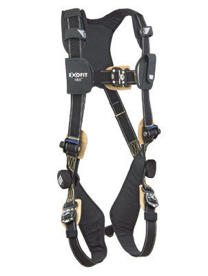 DBI/SALA Medium ExoFit NEX Arc Flash Nomex/Kevlar Web Full Body Harness With PVC Coated Aluminum Back And Side D Rings, Locking Connect Buckles And Comfort Padding