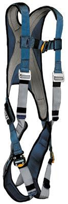 DBI/SALA Medium Blue/Silver Exofit Vest Style Harness With Back D-Ring And Quick Connect Buckles