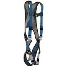 DBI/SALA Large Blue/Silver Exofit Vest Style Harness With Back D-Ring And Quick Connect Buckles