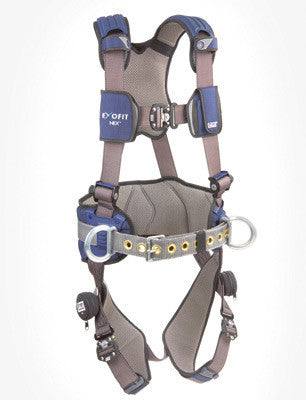 DBI/SALA Large ExoFit NEX Construction Style Harness With Tech-Lite Back And Side D-Rings, Duo-Lok Quick Connect Buckles And Sewn-In Hip Pad And Body Belt