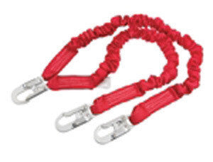 Capital Safety DBI-SALA 4 1/2' - 6' Double-Leg Protecta PRO Stretch Shock Absorbing Lanyard With Snap Hook At Leg Ends