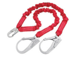 DBI/SALA 6' Red PRO Stretch Tubular Stretch Web Shock Absorbing Lanyard With Self Locking Snap Hooks