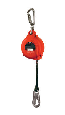 Miller 16' Falcon Self Retracting Lifeline With Web Lifeline, Stainless Steel Swivel And Carabiner And ANSI Snap Hook