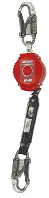 Miller TurboLite Personal Fall Limiter With Locking Snap Hook Unit Connector And Locking Rebar Hook End Connector