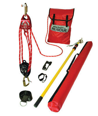 Miller 100' QuickPick Standard Rescue Kit (Includes Pulleys, Rope, Rescue Pole, Carabiners, Cross-Arm Anchor, Tool Lanyard, Kit Bag And Pole Bag)