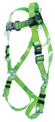 Miller Universal Green Vinyl-Coated Revolution Harness With Friction Buckle Shoulder Adjustments, MB Chest Adjustments, Tongue Buckle Legs And Removable Belt With Side D-Rings