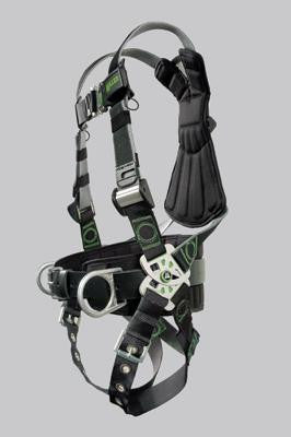 Miller Universal Revolution Welder's Harness With DualTech Webbing, Removable Belt, Side D-Rings And Pad And Tongue Buckle Legs