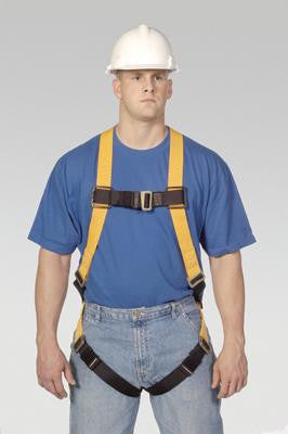 Miller Universal Titan T-Flex Stretchable Polyester Full Body Harness With Sliding Back D-Ring, Mating Buckle Legs, Chest And Shoulder Straps And Sub-Pelvic Strap