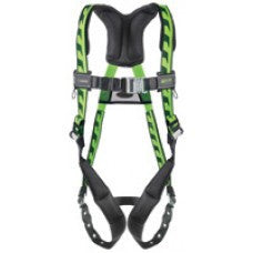 Miller Universal Green AirCore Harness With Quick-Connect Chest Strap, Tongue Buckle Leg Straps, Back D-Ring And Sub-Pelvic Strap
