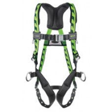 Miller Universal Green AirCore Harness With Side And Back D-Rings, Quick-Connect Chest Strap, Tongue Buckle Leg Straps And Sub-Pelvic Strap