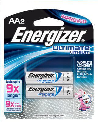 Energizer Ultimate AA Lithium Batteries (2 Per Card)