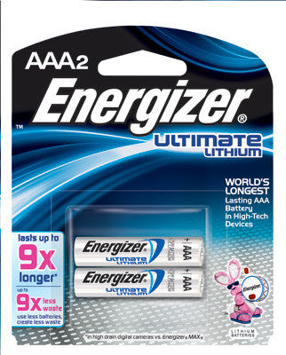 Energizer Ultimate AAA Lithium Batteries (2 Per Card)