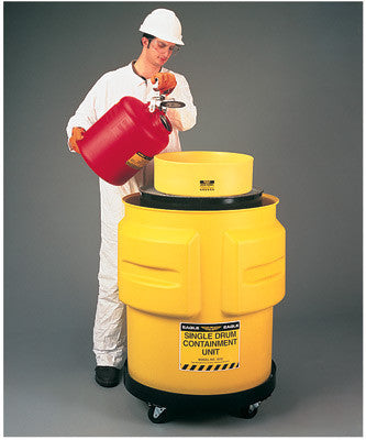 "Eagle Single Drum Polyethylene Spill Control Containment Unit 31"" X 33"""