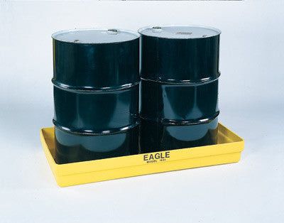 "Eagle Two Drum Polyethylene Modular Spill Containment Budget Basin With 34 Gallon Spill Capacity 26 1/4"" X 51 1/2"" X 6 1/2"""