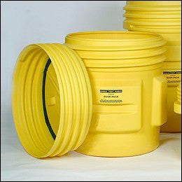 "Eagle Haz-Mat 65 Gallon Polyethylene Containment Overpack Drum With Screw Top Lid 31"" X 45"""