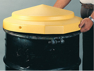 "Eagle 24"" X 5"" Yellow High Density Polyethylene Open Head Drum Cover"