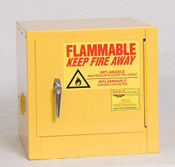 Eagle 16 Gallon Yellow One Shelf With One Door Manual Close Flammable Safety Storage Cabinet