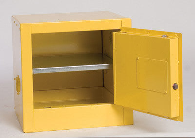 Eagle 4 Gallon Yellow One Shelf With One Door Self-Closing Flammable Safety Storage Cabinet