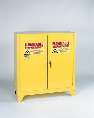 Eagle 30 Gallon Yellow One Shelf With Two Door Manual Close Flammable Safety Storage Cabinet