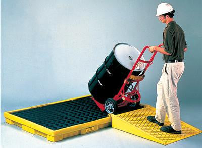 "Eagle 6-Drum Polyethylene Spill Pallet With Grating With 66 Gallon Secondary Spill Capacity 77"" X 51 1/2"" X 6 1/2"""