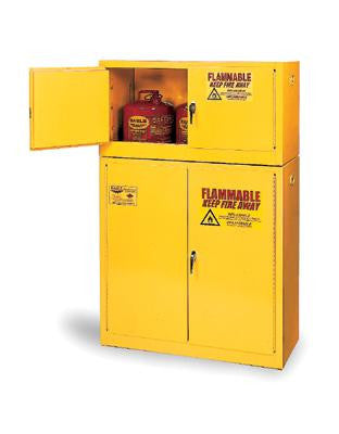 Eagle 90 Gallon Yellow Two Shelf With Two Door Manual Close Flammable Safety Storage Cabinet