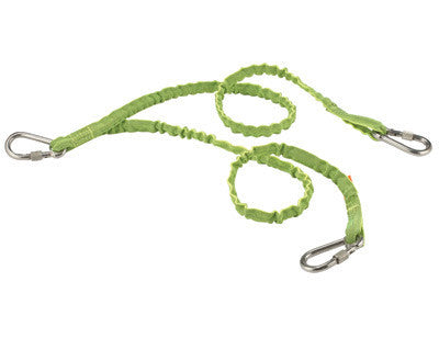 Ergodyne Lime Green SQUIDS 3311 Twin Leg 15 Pound Tool Lanyard With Three Stainless Steel Carabiners