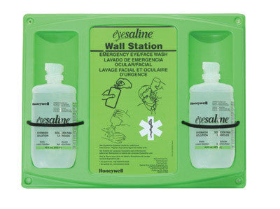 Fend-all 16 Ounce Dual Bottle Sterile Saline Eyewash Wall Station