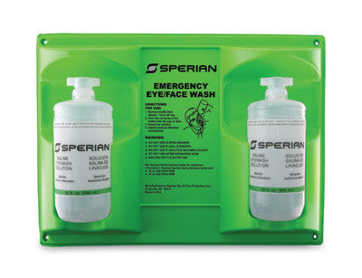 Fend-all 32 Ounce Sperian Sterile Saline Double Bottle  Wall Station