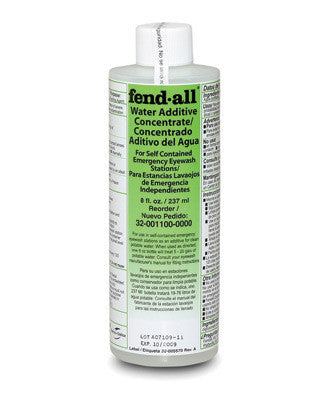 Fend-all 8 Ounce Bottle Sperian Water Additive For Use with Porta Stream ll And lll Eye Wash Stations