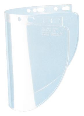 "Fibre-Metal Model 4178 8"" X 16 1/2"" X .060"" Clear Propionate Molded Wide Vision Faceshield Window"