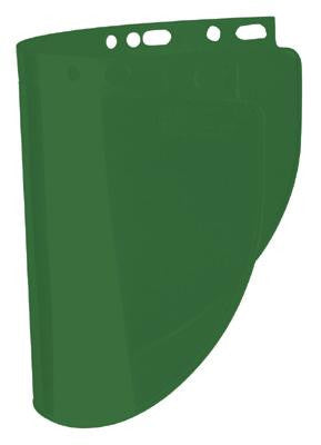 "Fibre-Metal Model 4178 8"" X 16 1/2"" X .060"" Dark Green Propionate Molded Wide Vision Faceshield Window"