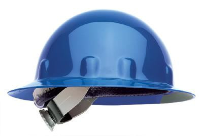 Fibre-Metal Blue SuperEight Class E, G or C Type I Thermoplastic Full Brim Hard Hat With Ratchet Suspension