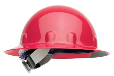 Fibre-Metal Red SuperEight SwingStrap Series Class E, G or C Type I Thermoplastic Full Brim Hard Hat With SwingStrap Suspension