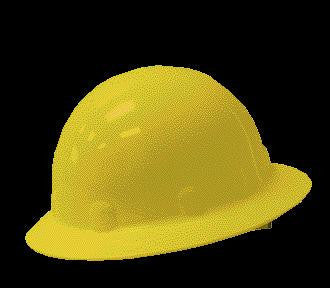 Fibre-Metal Yellow SuperEight SwingStrap Series Class E, G or C Type I Thermoplastic Full Brim Hard Hat With SwingStrap Suspension