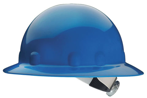 Fibre-Metal Blue SuperEight SwingStrap Series Class E, G or C Type I Thermoplastic Full Brim Hard Hat With SwingStrap Suspension