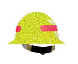 Fibre-Metal Hi-Viz Yellow SuperEight Class E, G or C Type I Thermoplastic Full Brim Hard Hat With Ratchet Suspension