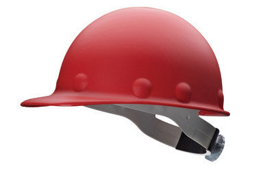 Fibre-Metal Red Roughneck P2A Series Class C And G ANSI Type 1 Fiberglass Hard Cap With Ratchet Suspension