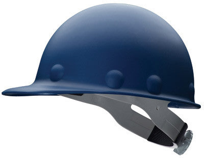 Fibre-Metal Blue Roughneck P2A Series Class C And G ANSI Type 1 Fiberglass Hard Cap With Ratchet Suspension