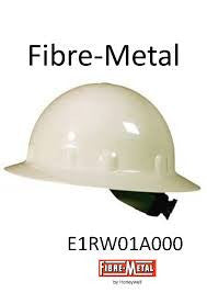 Fibre-Metal White SuperEight Class E, G or C Type I Thermoplastic Full Brim Hard Hat With Ratchet Suspension