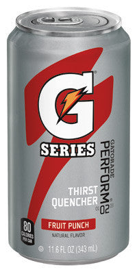 Gatorade 11.6 Ounce Ready To Drink Can Fruit Punch Electrolyte Drink (24 Cans Per Case)