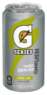 Gatorade 11.6 Ounce Ready To Drink Can Lemon Lime Electrolyte Drink (24 Cans Per Case)