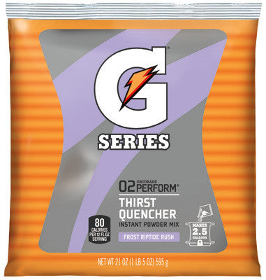 Gatorade 51 Ounce Instant Powder Pouch Riptide Electrolyte Drink - Yields 6 Gallons (14 Packets Per Case)