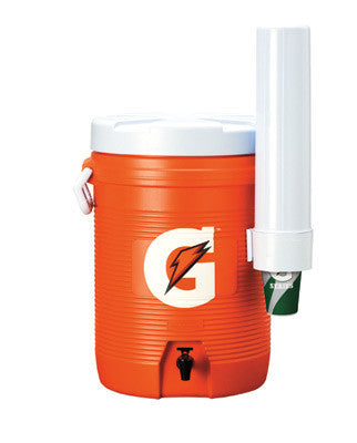 Gatorade 5 Gallon Upright Cooler/Dispenser With Fast Flow Faucet And Detachable Cone Cup Dispenser