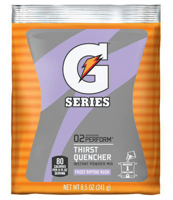 Gatorade 8.5 Ounce Instant Powder Pouch Riptide Electrolyte Drink - Yields 1 Gallon (40 Packets Per Case)