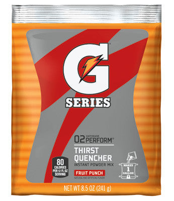 Gatorade 8.5 Ounce Instant Powder Pouch Fruit Punch Electrolyte Drink - Yields 1 Gallon (40 Packets Per Case)