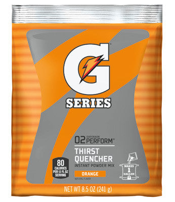 Gatorade 8.5 Ounce Instant Powder Pouch Orange Electrolyte Drink - Yields 1 Gallon (40 Packets Per Case)