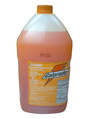 Gatorade 1 Gallon Liquid Concentrate Orange Electrolyte Drink - Yields 6 Gallons (4 Each Per Case)
