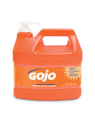 GOJO 1Gallon Bottle Natural* Orange Orange Citrus Scented Lotion Formula Hand Cleaner With Pump Dispenser
