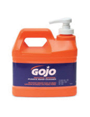GOJO 1/2 Gallon Pump Bottle Natural* Orange Hand Cleaner With Pumice Scrubing Particles