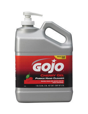 GOJO 1Gallon Pump Bottle Cherry Scented Cherry Gel Pumice Hand Cleaner